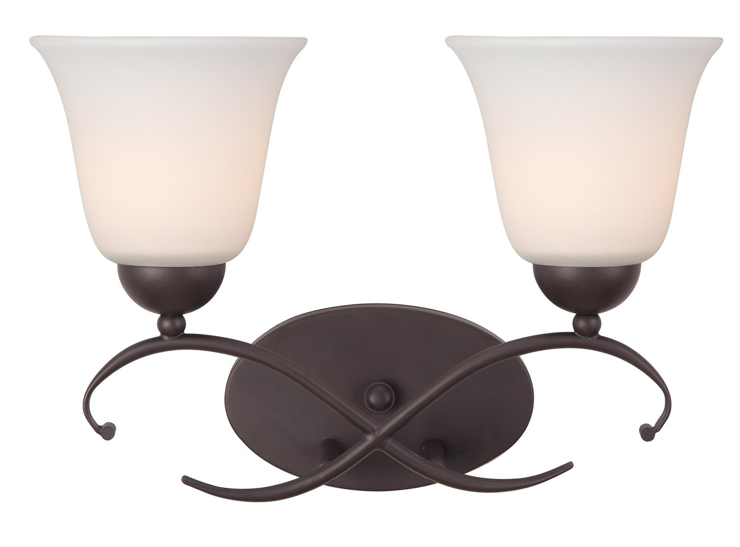 Canarm IVL424A02ORB Lily 2-Light Bath Vanity Light by Canarm