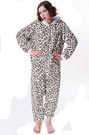 Pijamas, Ropa De Hogar, Caricatura De Gato Leopardo, Pijamas De Franela De Una Pieza: Amazon.es: Deportes y aire libre