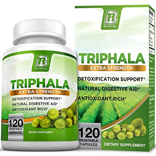 BRI Nutrition Triphala - 1000mg Veggie Himalaya Triphala Pure Extract Plus - 60 Day Supply - 120ct Veggie Capsules