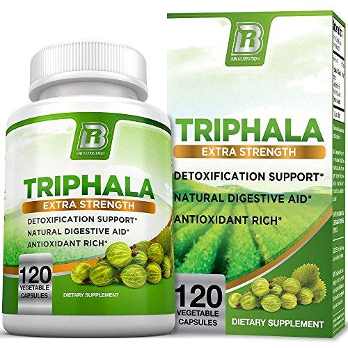 BRI Nutrition Triphala - 1000mg Veggie Himalaya Triphala Pure Extract Plus - 60 Day Supply - 120ct Veggie Capsules