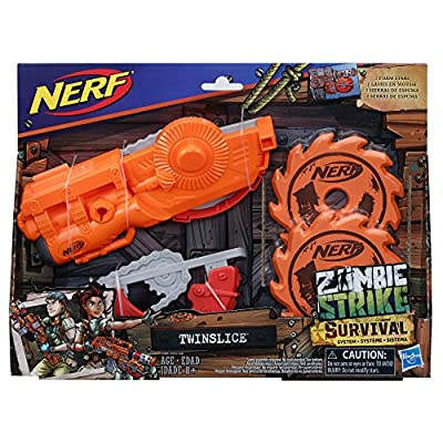 Nerf Zombie Strike Survival System Twinslice: Toys & Games