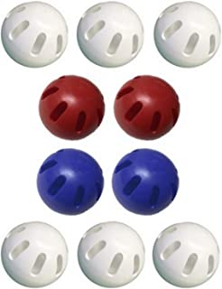 product image for Wiffle Ball Pack of 10 Includes 2 Blue, 2 Red and 6 White Official Wiffle Balls - USA Wiffle Ball Set
