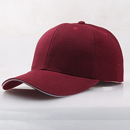 Amazon.com: KFSO Women Man Classic Cotton Dad Hat Hip-Hop Adjustable Plain Cap Polo Style Low Profile (Red): Arts, Crafts & Sewing