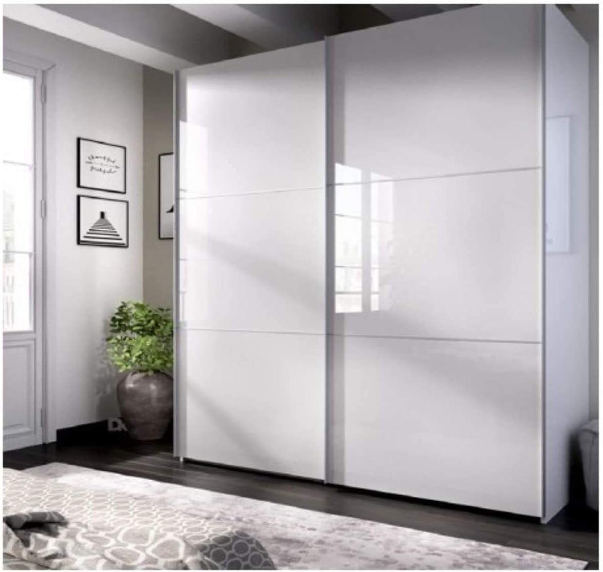 DECOR NATUR-Armario DE Puertas CORREDERAS Modelo Slide Color Blanco Brillo-Medidas: Ancho: 180 cm Alto: 204 cm Fondo: 65 cm (150_x_210_cm)