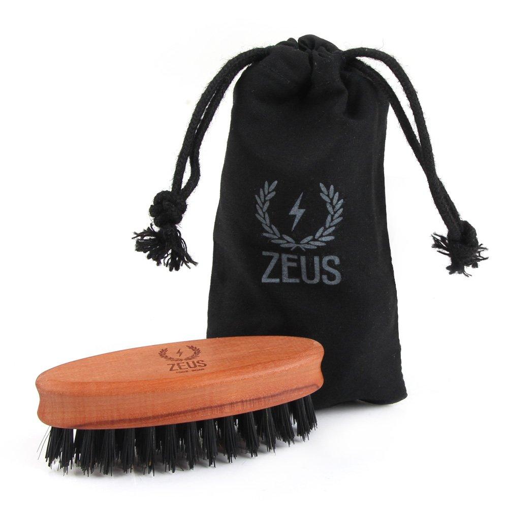 ZEUS 100% Boar Bristle Pocket Beard Brush