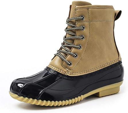 Rain Boots Warm Lace Up Comy Slip