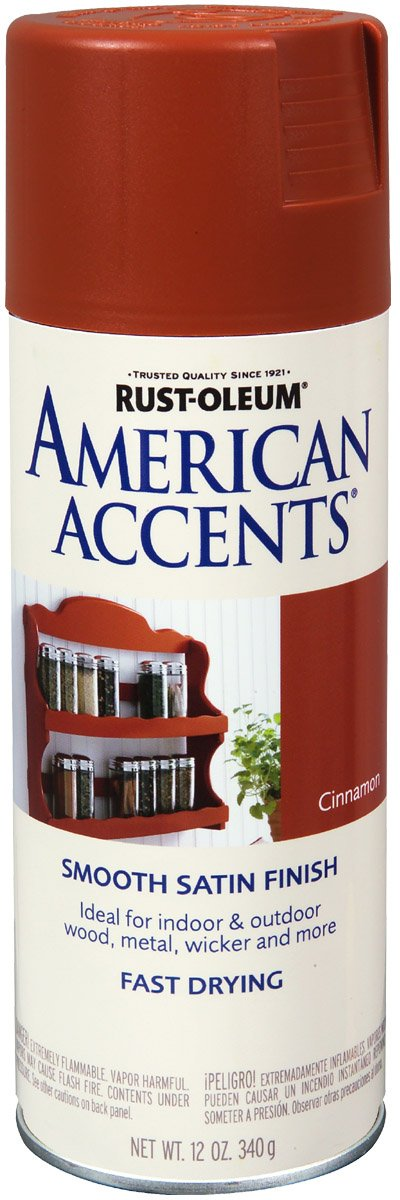 Rustoleum Spray Paint Colors For Metal Part - 31: Amazon.com: Rust-Oleum 7931830 American Accents Spray, Satin Cinnamon,  12-Ounce: Home Improvement