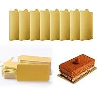 Mini cuadrado de cartón dorado para decoración
