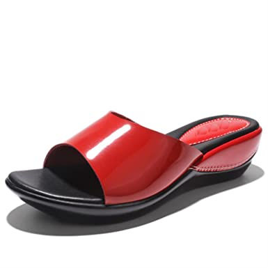 9500cbc4f64f Image Unavailable. Image not available for. Color  Women Flat Platform Slides  Shoes Summer ...
