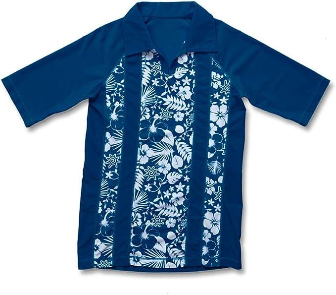 Boys V-Neck Aloha Sun /& Swim Shirt UV SKINZ UPF 50