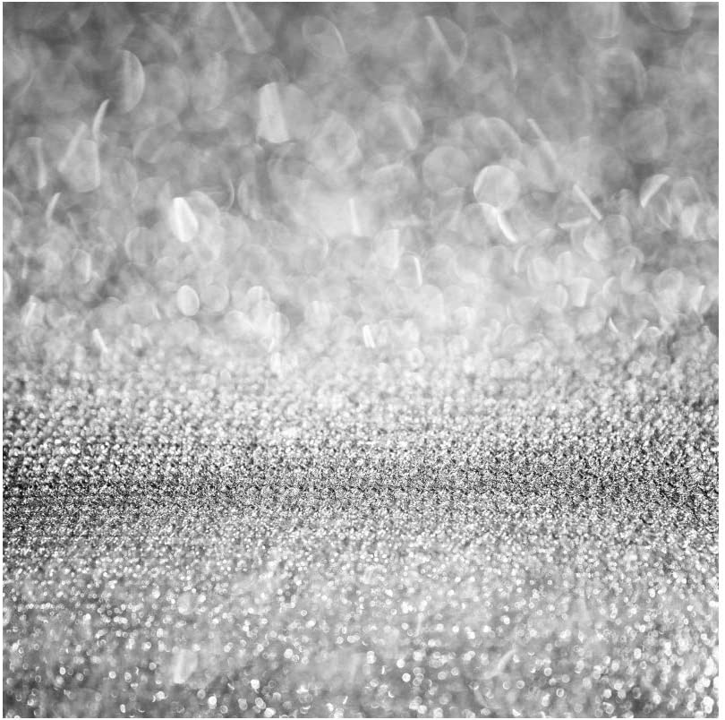 YEELE 10x10ft Glitter Silver Backdrop for Photography Abstract Bokeh Shiny Spot Starry Sky Color Background Birthday Party Decoration Baby Kids Girls Portrait Shooting Photo Studio Booth Wallpaper