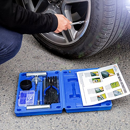 BETOOLL 67Pc Tire Repair Kit For Car, Motorcycle, ATV, Jeep, Truck, Tractor Flat Tire Puncture Repair [ Full Refund for Any Dissatisfaction ] by BETOOLL (Image #5)