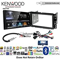 Volunteer Audio Kenwood DMX7704S Double Din Radio Install Kit with Apple CarPlay Android Auto Bluetooth Fits 2013-2014 Buick Enclave, 2013-2014 Chevrolet Traverse