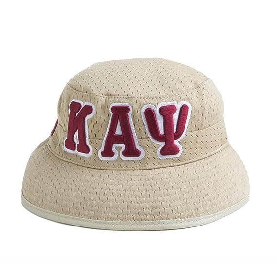 357c18776 Kappa Alpha Psi Fraternity Khaki Greek Letters Bucket Hat at Amazon ...