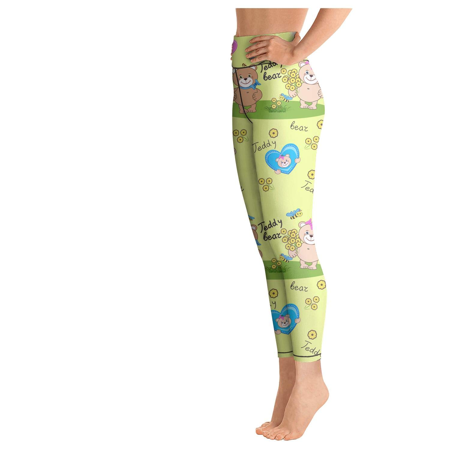 AWAWE Big Teddy Bears for Girls Biker Leggings Cool Gym wear