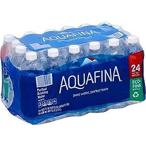 Aquafina Bottled Water, 16.9 Ounce (24 Bottles)