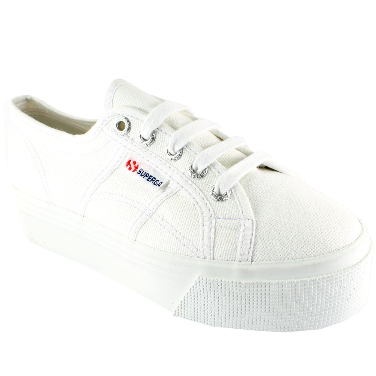 4a3b2876b Womens Superga 2790 Canvas Plimsoll Casual Flatform Low Top Trainers UK  3.5-8.5: Amazon.co.uk: Shoes & Bags