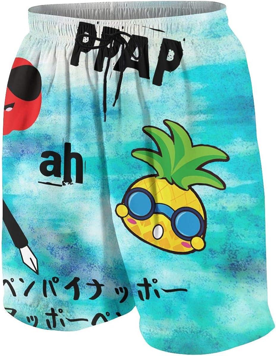 Zhangyi Boys PPAP Pen Pineapple Apple Pen Summer Swim Trunk