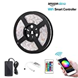 Amazon Price History for:CETIM Wifi Wireless Smart Phone Controlled LED Strip Light Kit, 16.4ft Waterproof Flexible SMD 5050 RGB 300 LEDs Strip Lights ,Working with Android and IOS System,Alexa