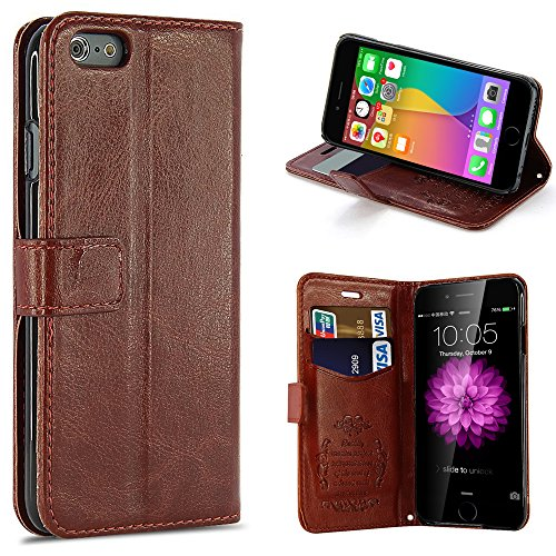 "iPhone 6 Plus Case, Pasonomi® [Kickstand Feature] iPhone 6 Plus 5.5"" Premium Wallet Leather Case - Classic Vintage Cover for Apple iPhone 6+ iPhone Plus 5.5 Inch Smartphone (Brown)"