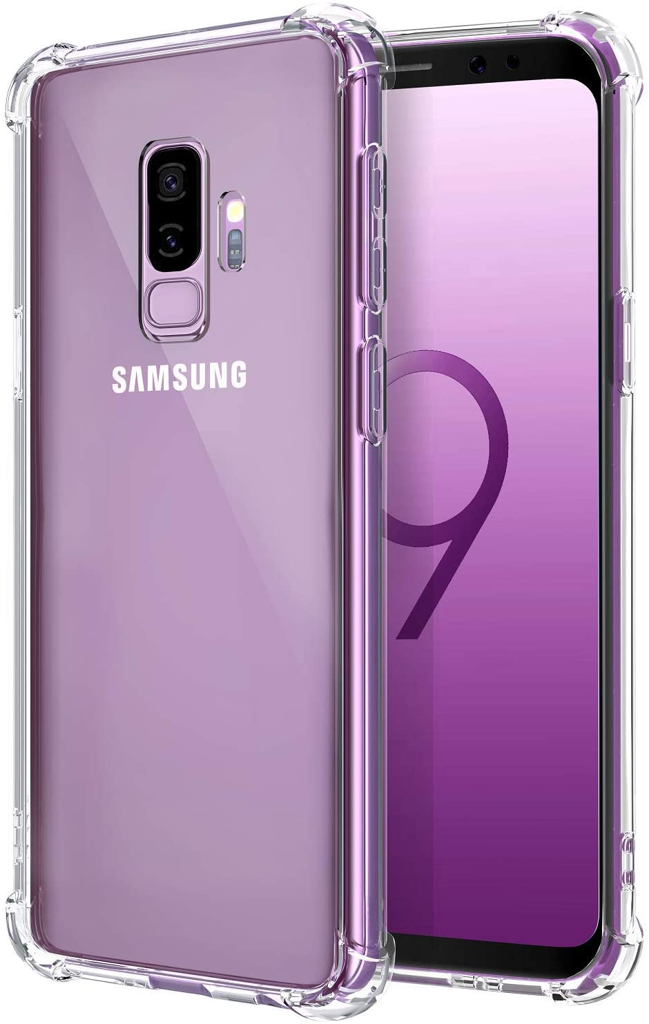 Comsoon Galaxy S9 Plus Case, [Drop Cushion] [Crystal Clear] Soft TPU Bumper Slim Protective Case Cover with Raised Bezels for Samsung Galaxy S9 Plus 2018 (Clear)