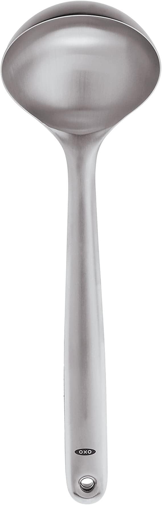 Silver Oxo Soup ladle of Stainless Steel Brushed 9.4 x 7.62 x 33.53 cm