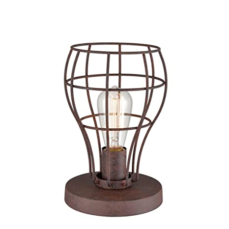 Axiland Iron Works Desk Light Industrial Cage Table Lamp With Plug