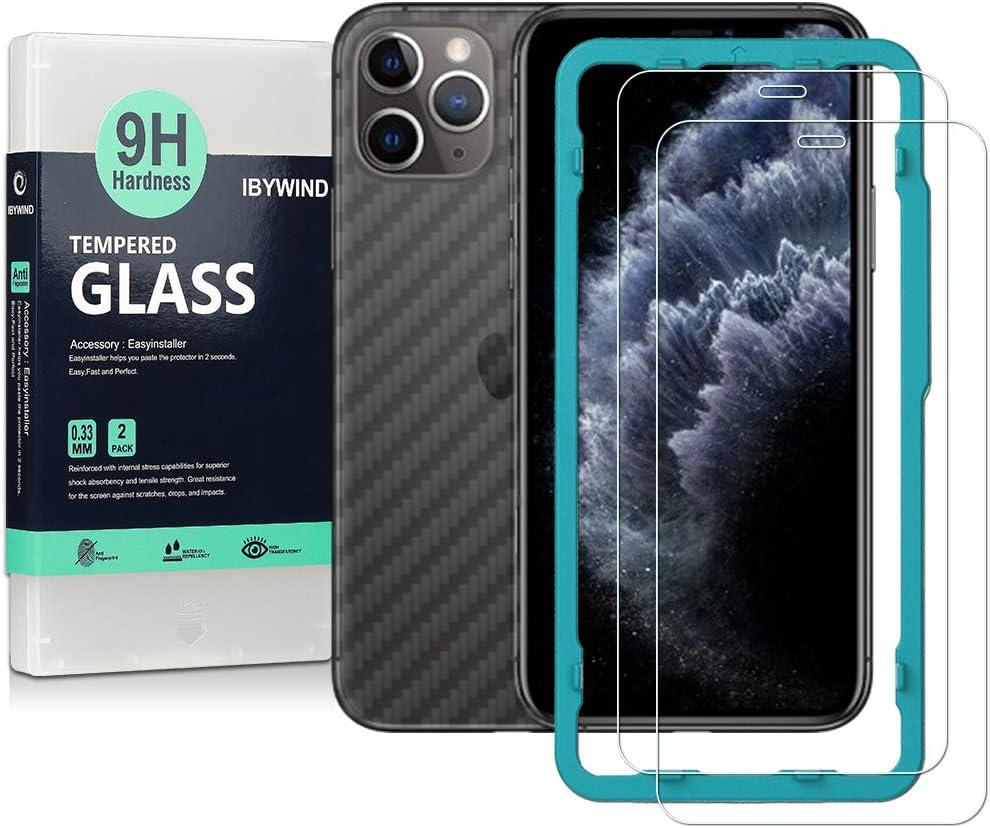 Ibywind Cristal Templado para iPhone 11 Pro [2 Piezas],con Atrás ...