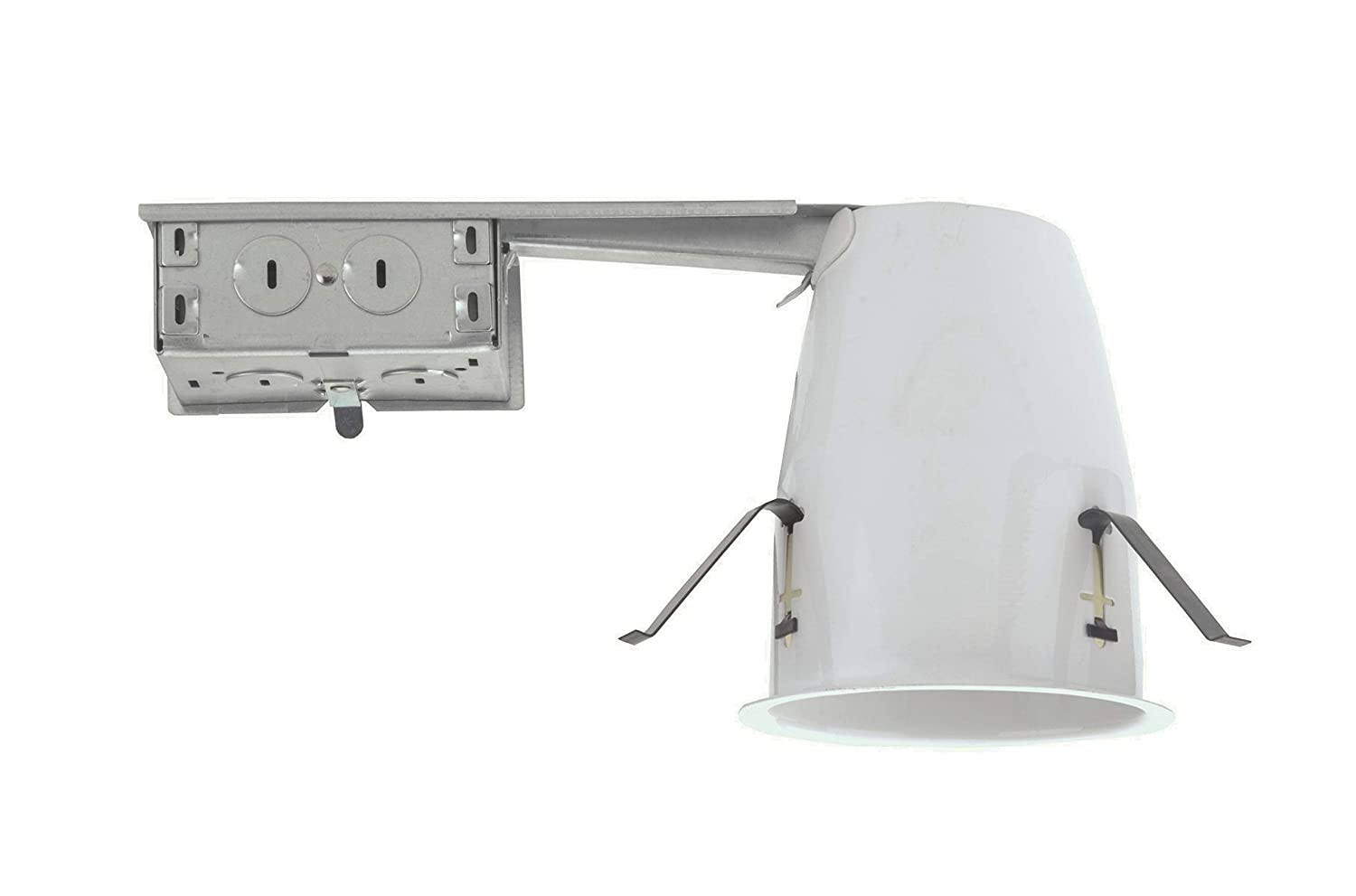 NICOR Lighting 4-Inch IC-Rated Airtight Recessed LED Remodel Housing 19001AR-LED-ID