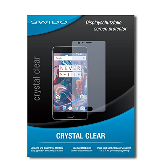 SWIDO® Displayschutz für OnePlus 3 [4 Stück] Kristall-Klar, Hoher Härtegrad, Schutz vor Öl, Staub und Kratzer/Schutzfolie, Di