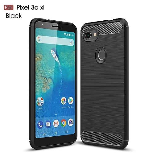 Lyzwn Funda Google Pixel 3A XL, ultra fina Fibra de carbono suave ...