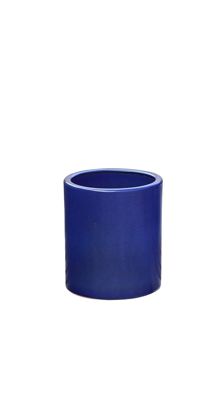 gro er pflanztopf pflanzk bel frostsicher rund 36 x 46 cm farbe effekt blau form. Black Bedroom Furniture Sets. Home Design Ideas