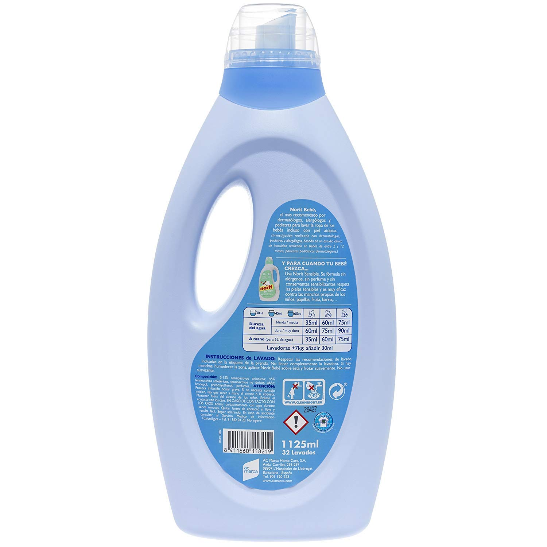 Norit Bebé Detergente Líquido 32 Lavados - 1125 ml