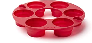 Omnia Oven Muffin Ring: Collapsible Tray RV Camping & Home Stove Top Oven + 12 Custom Parchment Paper Rounds