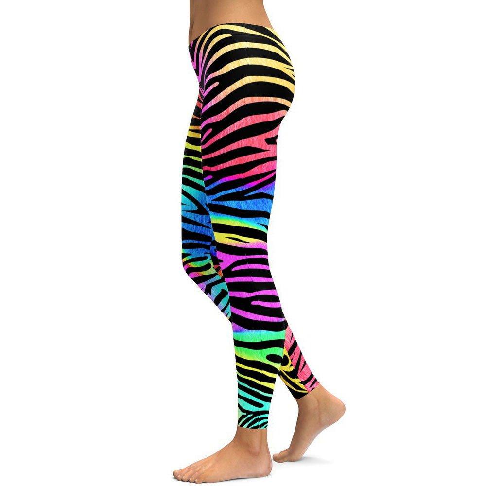 Leggins de Yoga Mujer SUNNSEAN Colores Mezclado a Rayas de ...