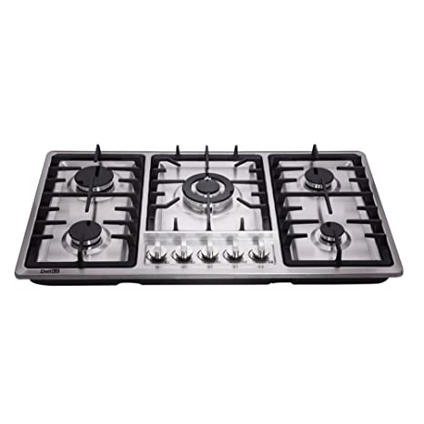DeliKit DK258-A01 34 inch Gas Cooktop gas hob 5 burners LPG/NG Dual