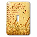 3dRose Dream Essence Designs-Bible Quotes - Bible quote John Jesus said Peace I give unto you, meadow background - Light Switch Covers - single toggle switch (lsp_262335_1)