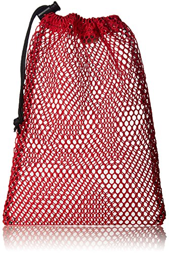Equinox Nylon Mesh Stuff Sack (7 x 10-Inch, Red)