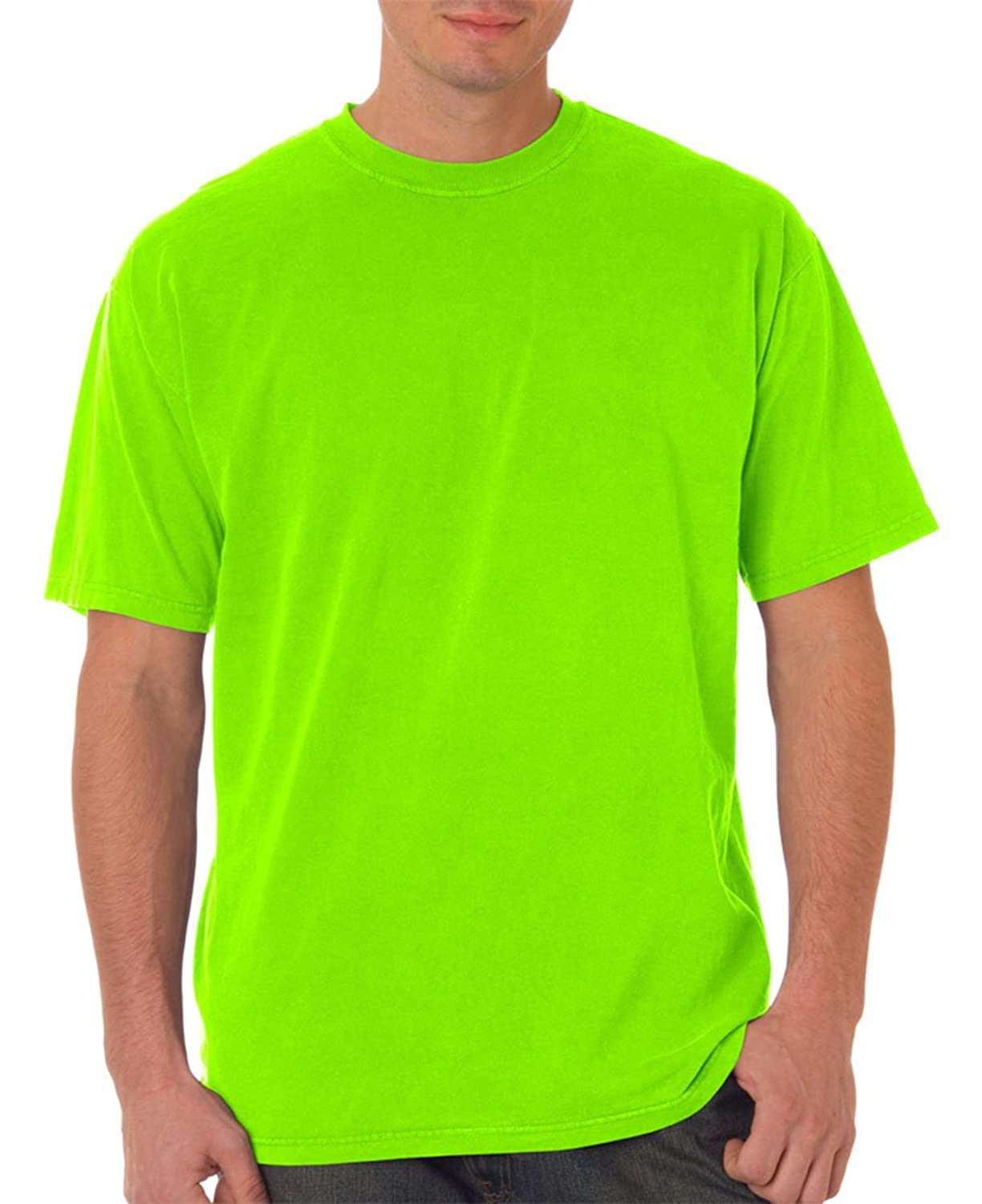 Chouinard Adult Classic Heavyweight Short Sleeve T-Shirt, Neon Green