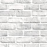 Ktyssp 3D Stone Effect Self-Adhesive Decor Sticker Rustic Brick Home Wall