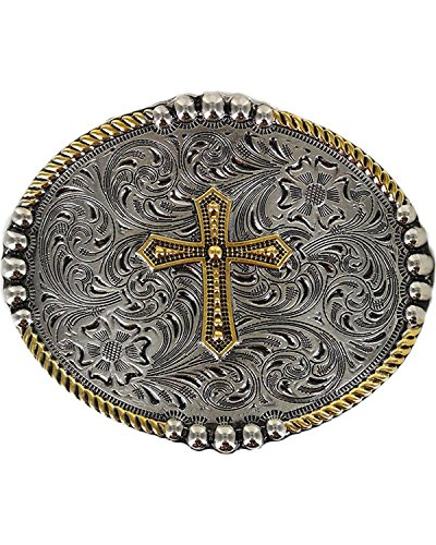 Cody James Men's Filigree Cross Belt Buckle Silver One ()