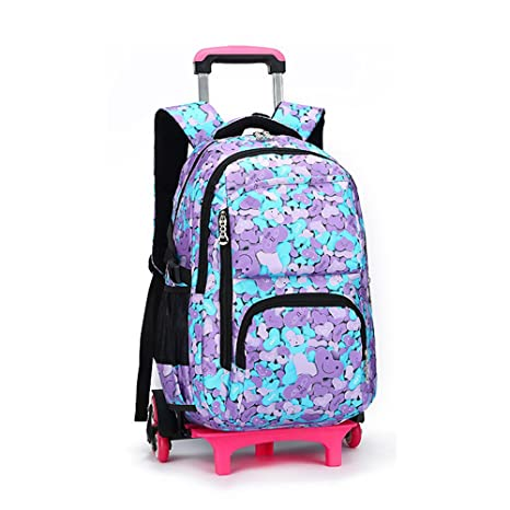 d6cb41487b Bupin Zaino rotolante, Scuola borsa,Sei ruote Trolley borsa per bambini e  scolari Con