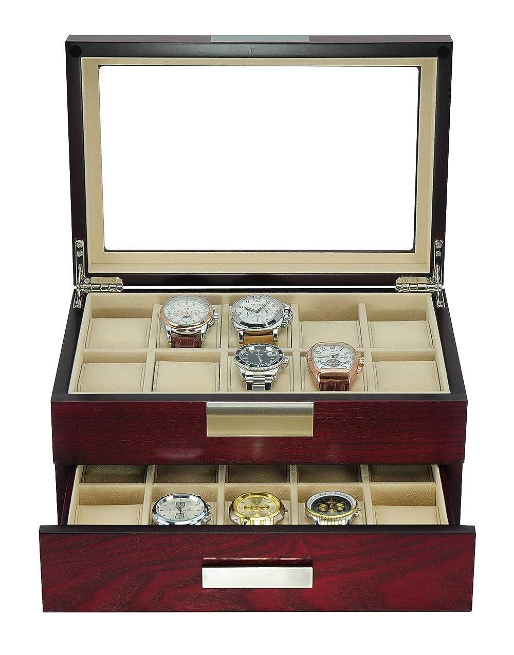 Uhrenbox Uhren Holz 20 Schwarz Aus Uhrenschatulle Für Edle pUMSzV