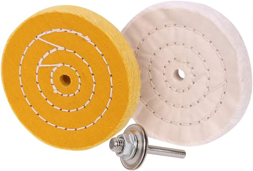Natasher 6 Extra Thick Buffing Polishing Wheel White 70 Ply for Bench Grinder or Drills with 1//2 Arbor Hole