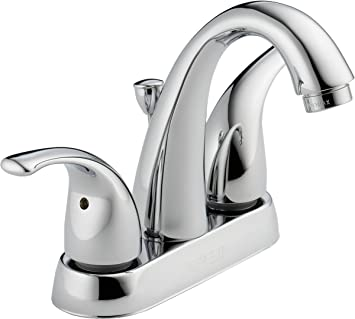 Peerless Tunbridge Centerset Bathroom Faucet Chrome Bathroom Sink Faucet Pop Up Drain Assembly Chrome P299695lf Touch On Bathroom Sink Faucets Amazon Com