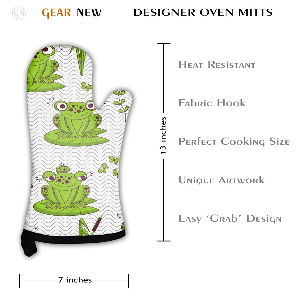 Gear New Oven Mitt, Pattern Frogs, GN1461 by Gear New (Image #2)