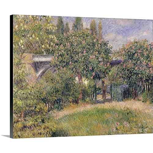 GREATBIGCANVAS Gallery-Wrapped Canvas Entitled Railway Bridge at Chatou, 1881 by Pierre Auguste Renoir 14