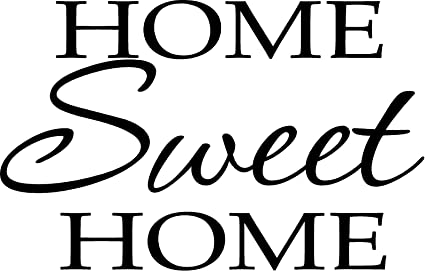Amazon Com Newsee Decals Home Sweet Home Vinyl Wall Art
