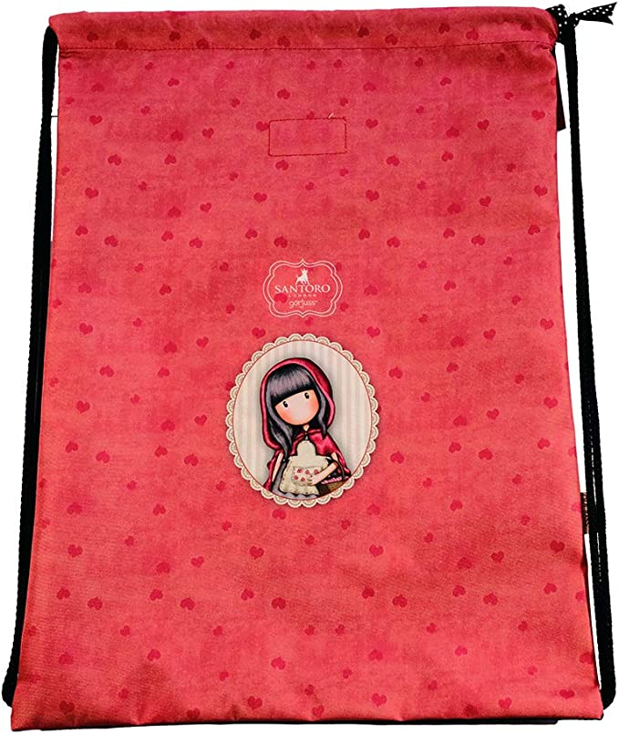 Red Schwarz 44 cm Multicolore GORJUSS Little Red Riding Hood Cabas de Fitness