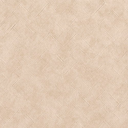 Warx0|#Warner 3097-12 Texture Taupe Basketweave Wallpaper,